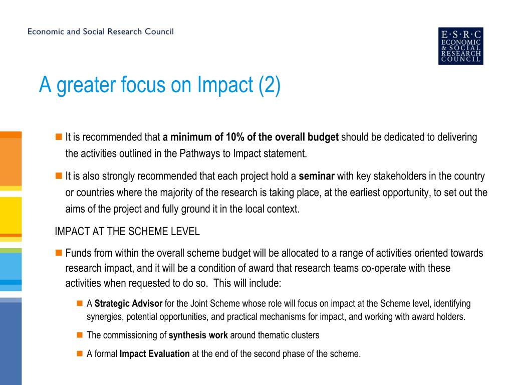 A greater focus on Impact (2)