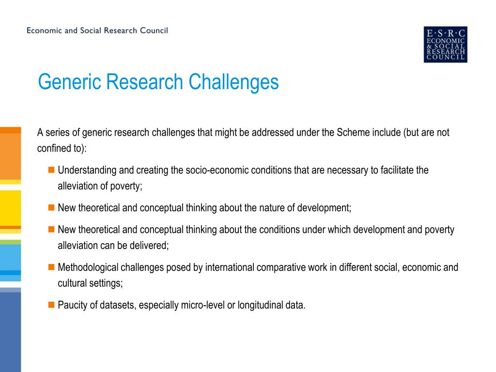 Generic Research Challenges