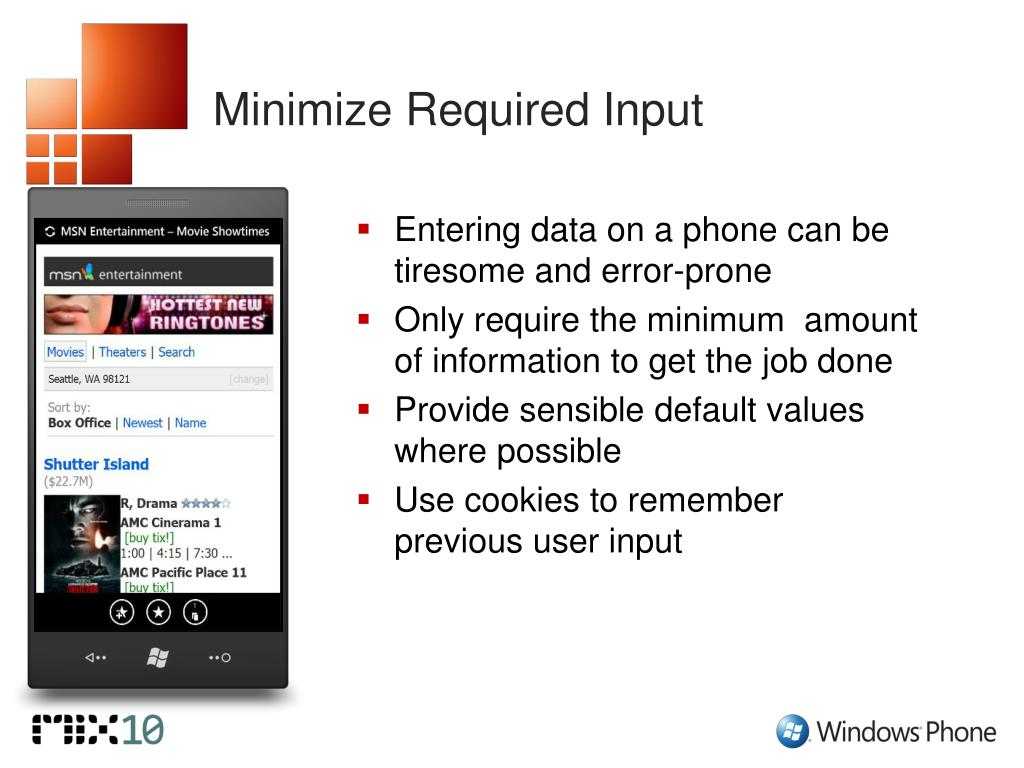 Minimize Required Input