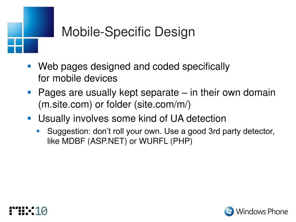 Mobile-Specific Design