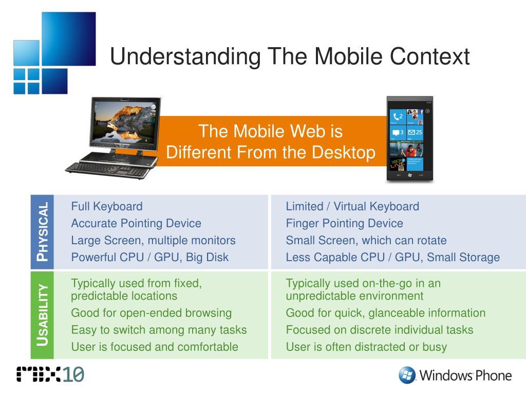 Understanding The Mobile Context