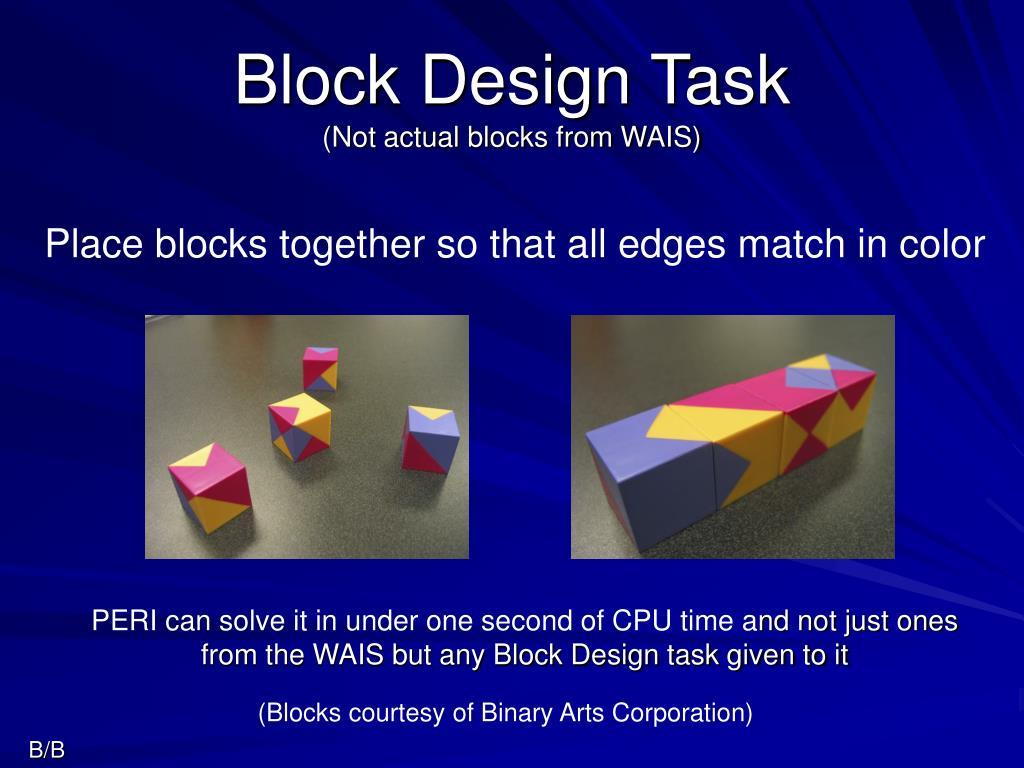 Block Design Task