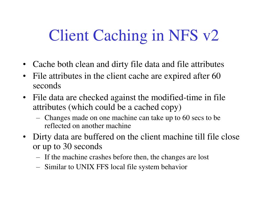 Client Caching in NFS v2
