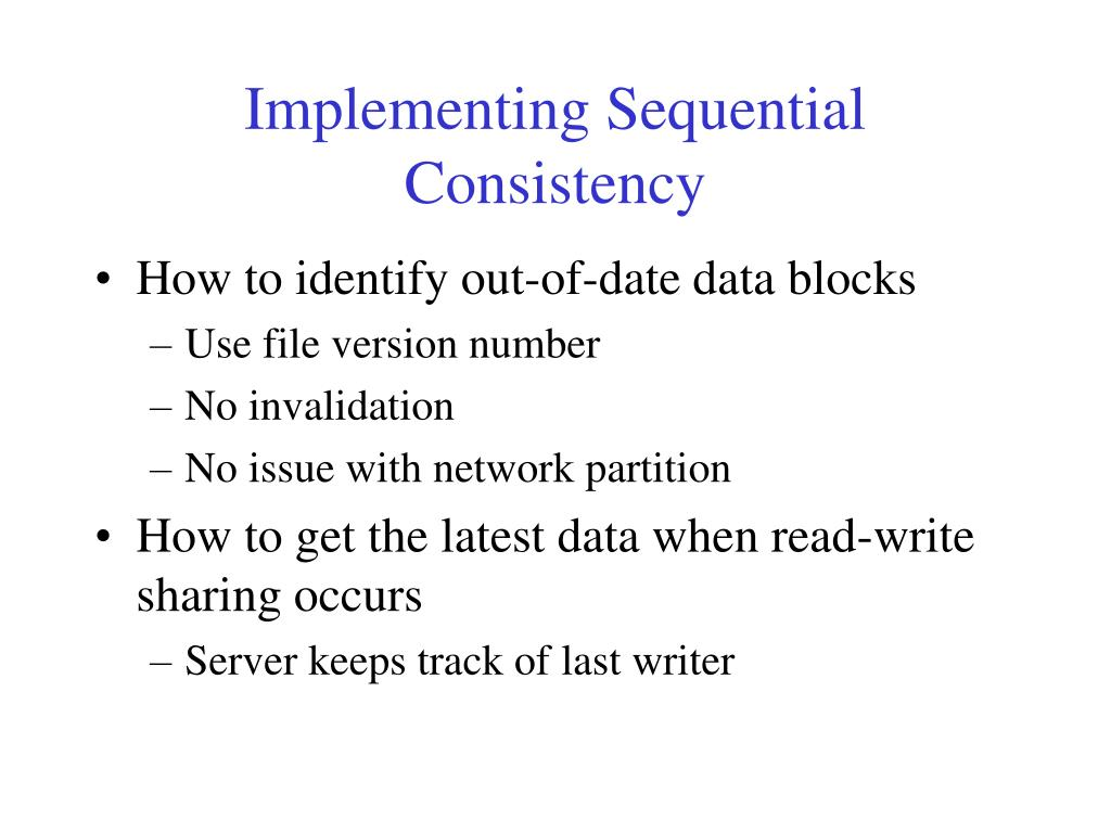 Implementing Sequential Consistency
