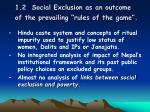 1 2 social exclusion as an outcome of the prevailing rules of the game