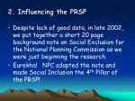 2 influencing the prsp