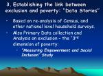 3 establishing the link between exclusion and poverty data stories