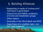 6 building alliances