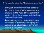 7 understanding the implementation gap