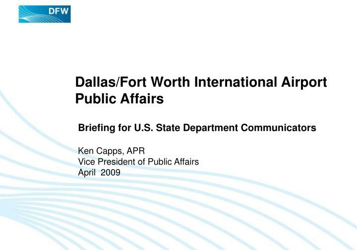 Dallas fort worth international airport public affairs
