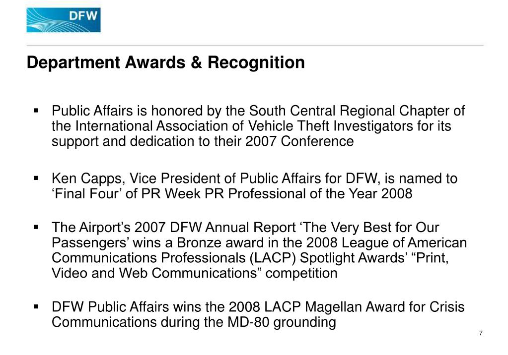 Department Awards & Recognition