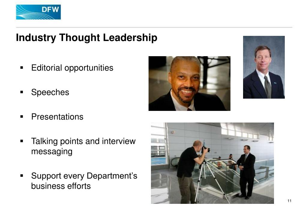 Industry Thought Leadership