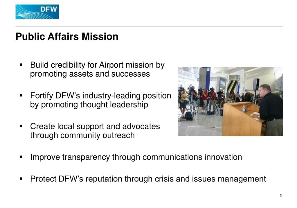 Public Affairs Mission