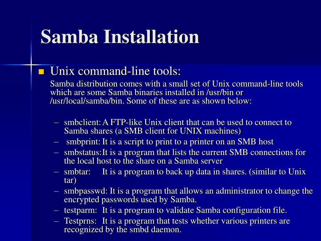 Samba Installation