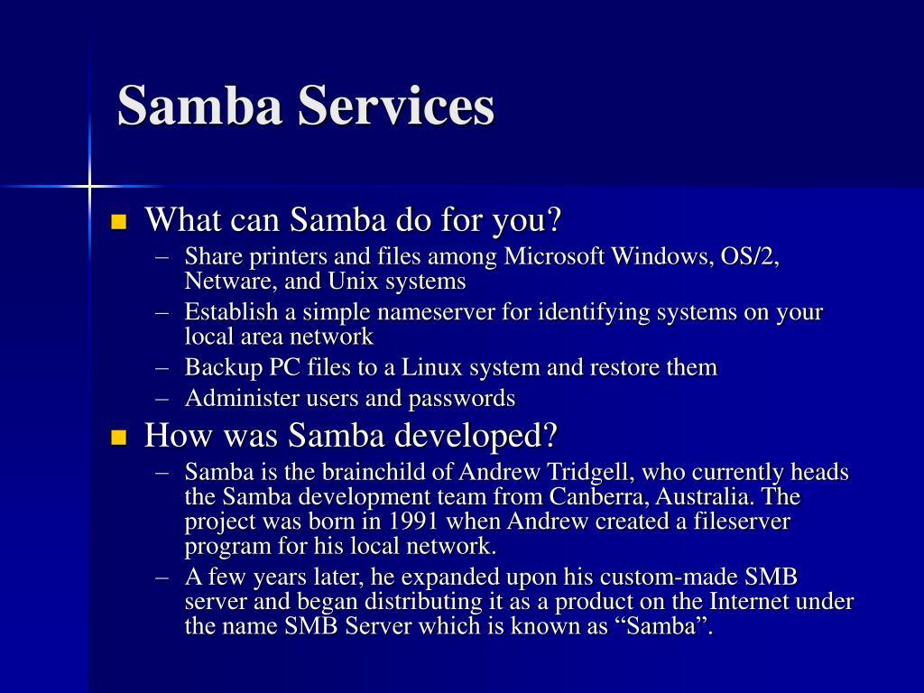 Samba Services