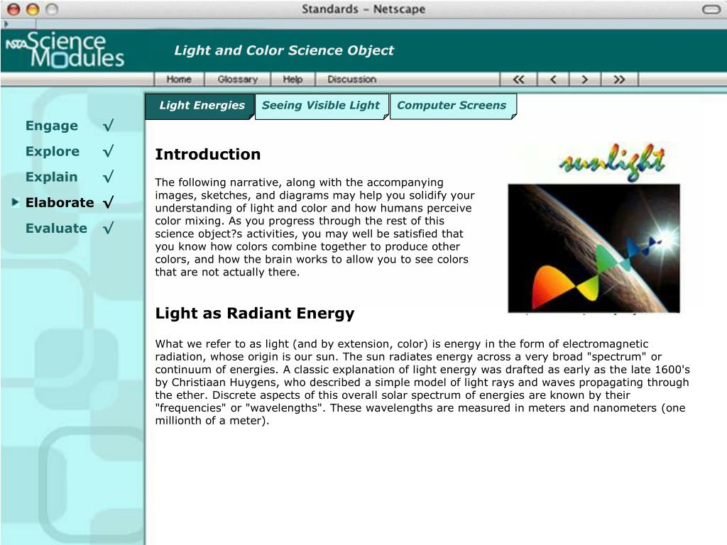 Light and Color Science Object