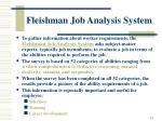 fleishman job analysis system