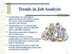 trends in job analysis