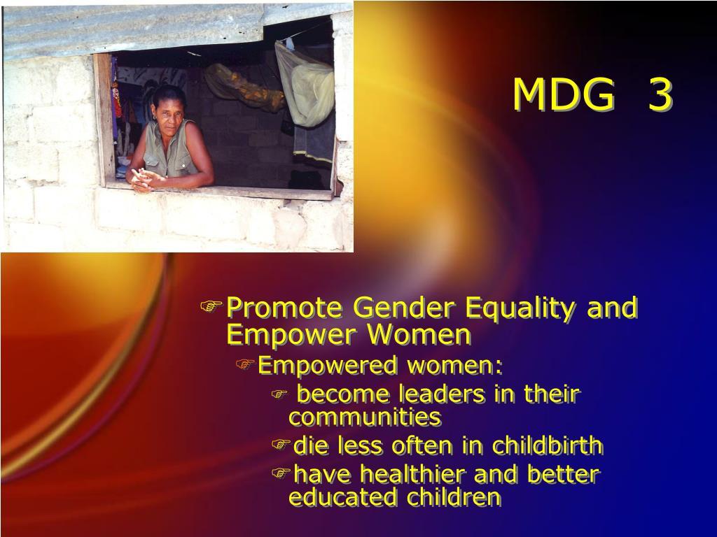 MDG  3