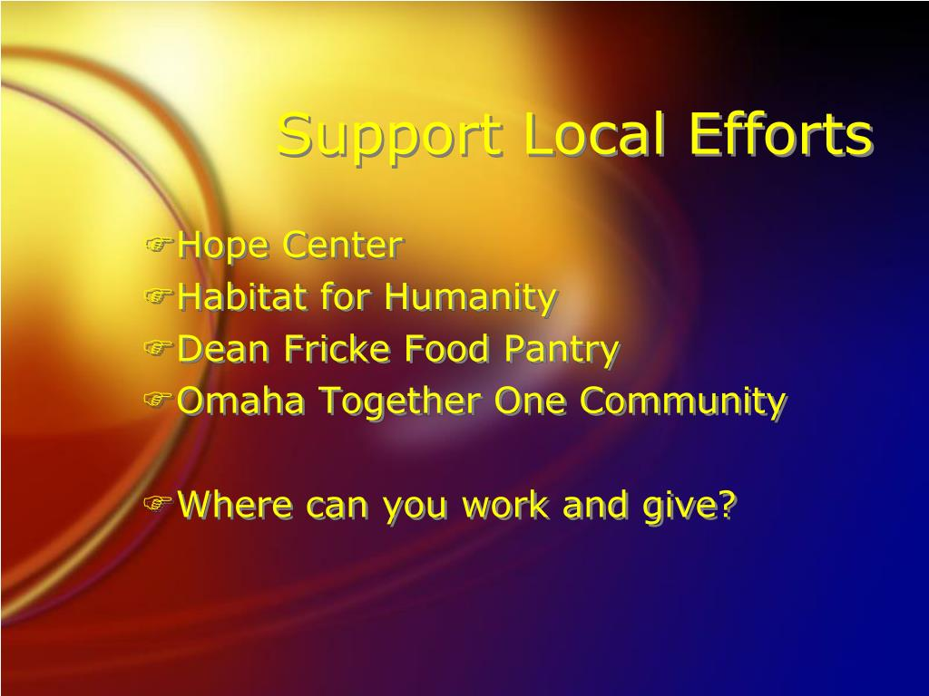 Support Local Efforts