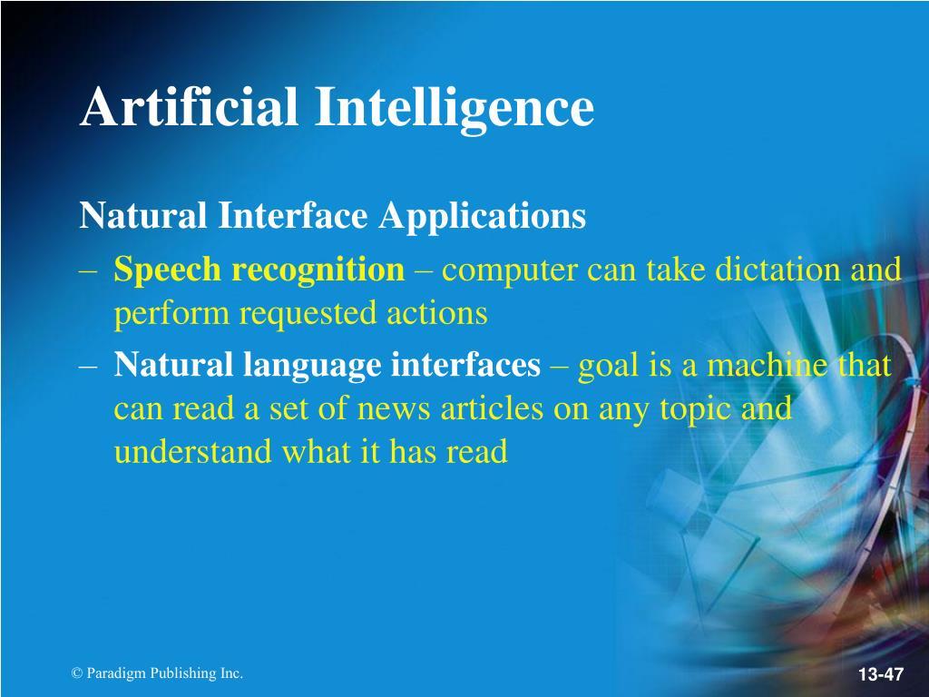 Natural Interface Applications