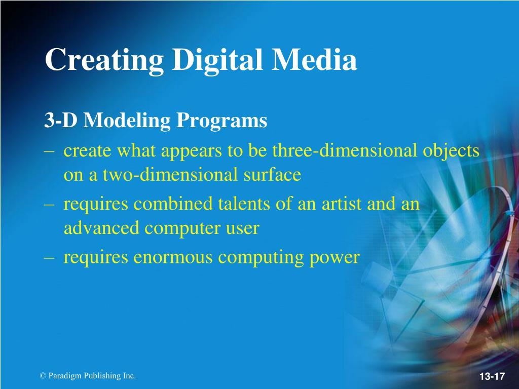 3-D Modeling Programs