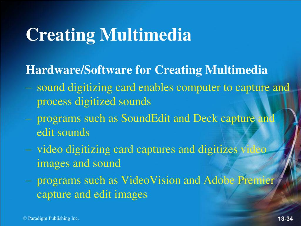 Hardware/Software for Creating Multimedia