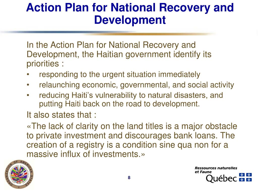 Action Plan for National Recovery and Development