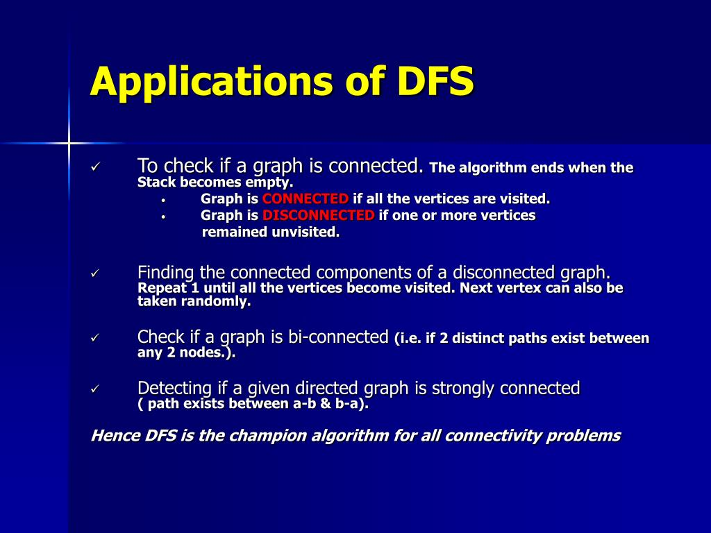 Applications of DFS
