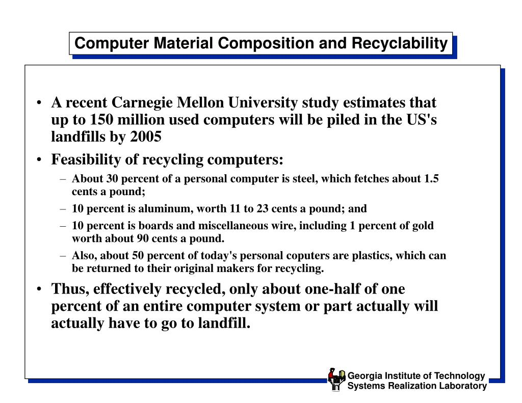 Computer Material Composition and Recyclability