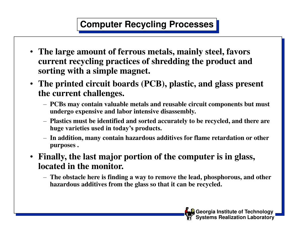 Computer Recycling Processes