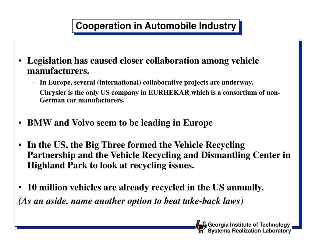 Cooperation in Automobile Industry