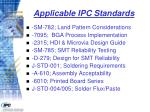 applicable ipc standards