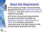 board test requirements