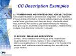 cc description examples