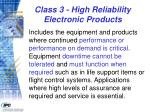 class 3 high reliability electronic products