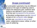scope continued