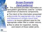 scope example land patterns