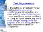 test requirements45