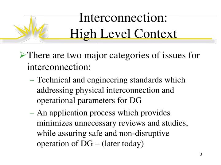 Interconnection high level context
