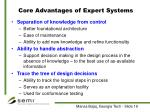 core advantages of expert systems