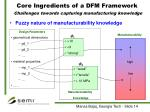 core ingredients of a dfm framework challenges towards capturing manufacturing knowledge