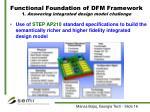 functional foundation of dfm framework 1 answering integrated design model challenge