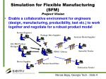 simulation for flexible manufacturing sfm project vision