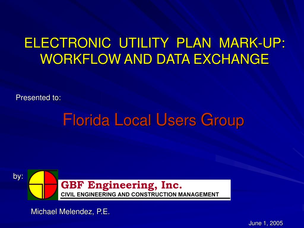 electronic utility plan mark up workflow and data exchange l.