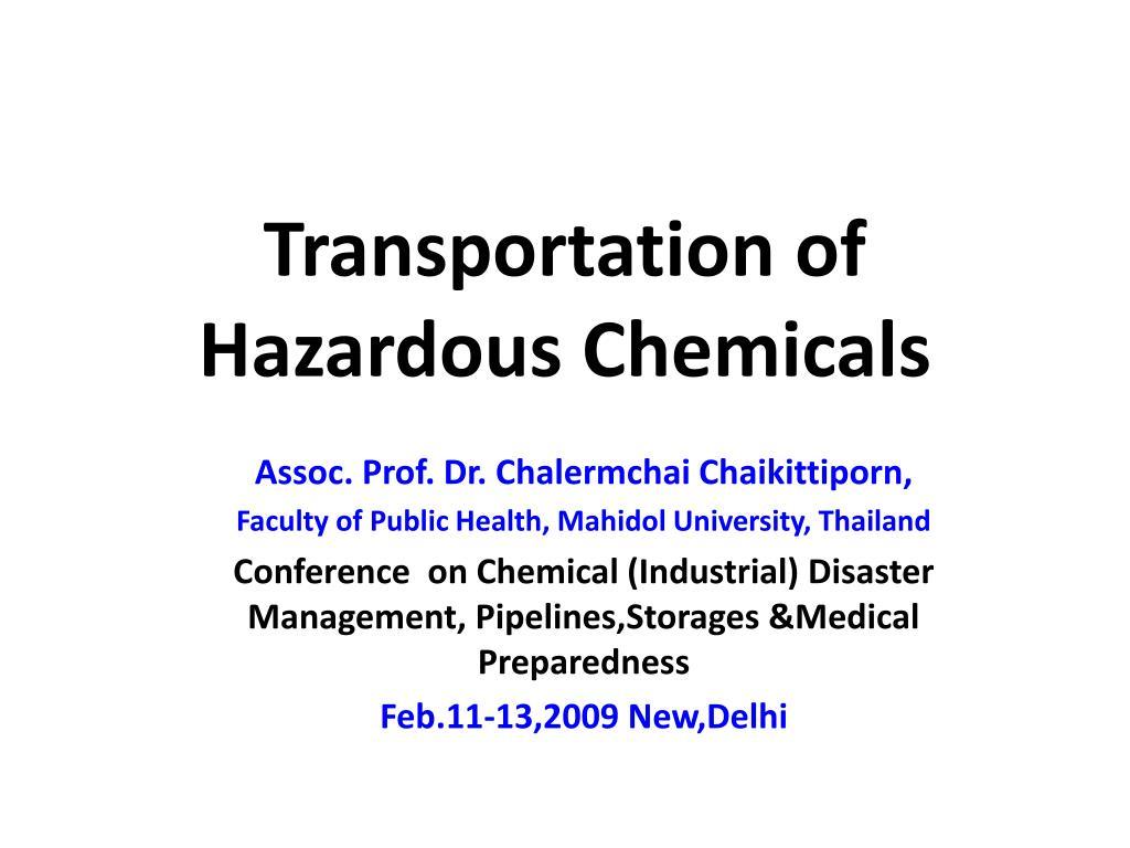 transportation of hazardous chemicals l.