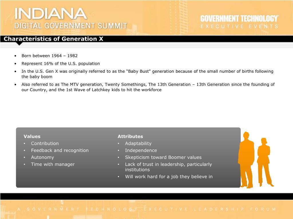 Characteristics of Generation X
