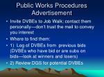 public works procedures advertisement