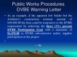 public works procedures dvbe warning letter24