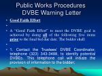 public works procedures dvbe warning letter25